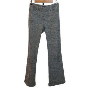 Theory Wide Leg Herringbone Cuffed Wool Fall Trousers
